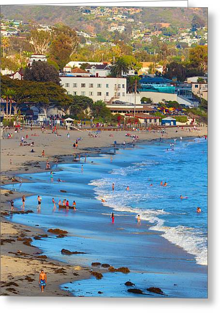 California Beach Pyrography Greeting Cards - Laguna Beach  Greeting Card by Habib Ayat