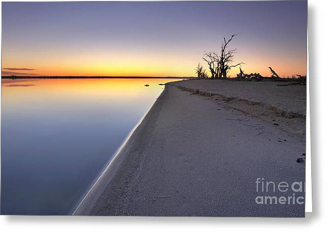 Drown Greeting Cards - Lake Bonney Sunrise Barmera Riverland South Australia Greeting Card by Bill  Robinson