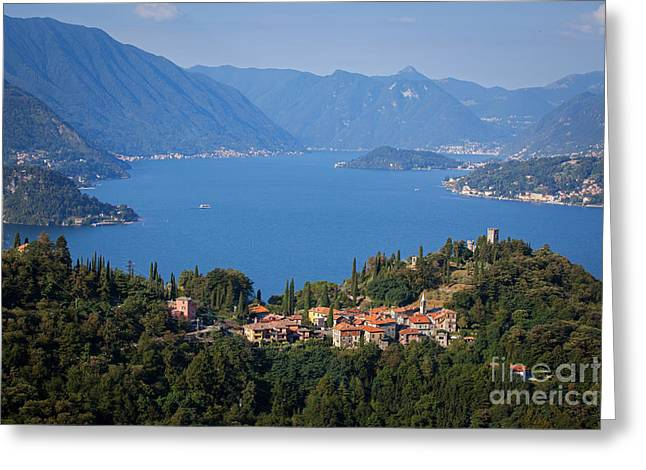 Town Square Greeting Cards - Lake Como, Italy Greeting Card by Marco Scisetti