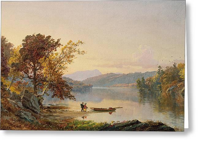 Lake George Greeting Card by Jasper Francis Cropsey