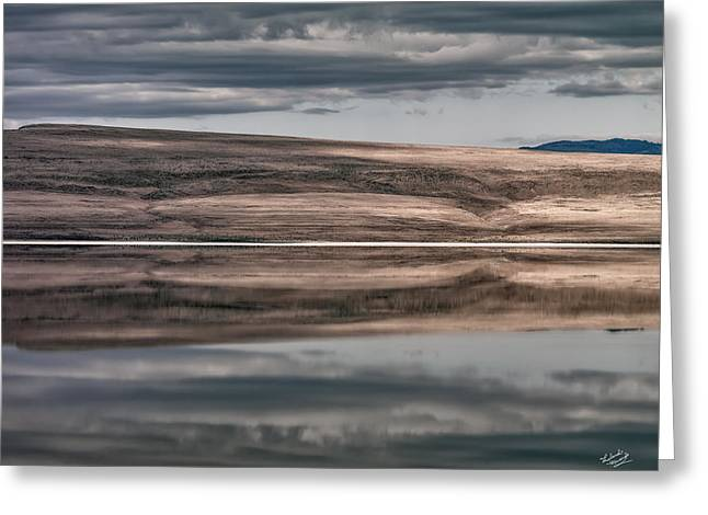 Lake Reflections Greeting Card by Leland D Howard