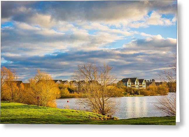 Lake House Greeting Cards - Lake View Greeting Card by Gary Gillette