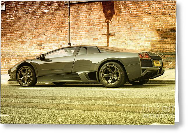 Expensive Greeting Cards - Lamborghini Greeting Card by Hristo Hristov