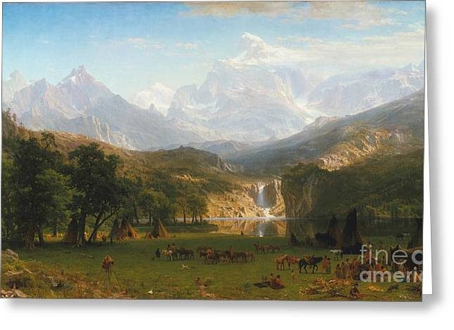 Bierstadt Drawings Greeting Cards - Landers Peak Greeting Card by Celestial Images
