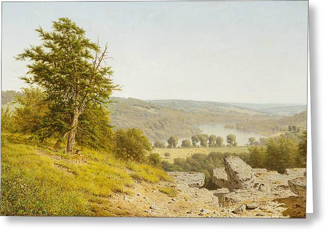 Landscape Greeting Card by Alexander Helwig Wyant