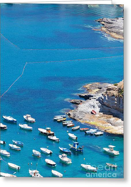 Italy Greeting Cards - Landscape and coast of the Italian island Ponza Greeting Card by Wolfgang Steiner