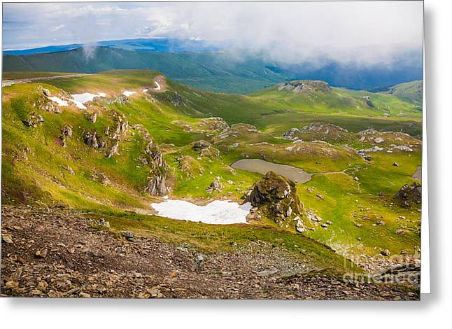Overcast Day Greeting Cards - Landscapes on Transalpina Greeting Card by Gabriela Insuratelu