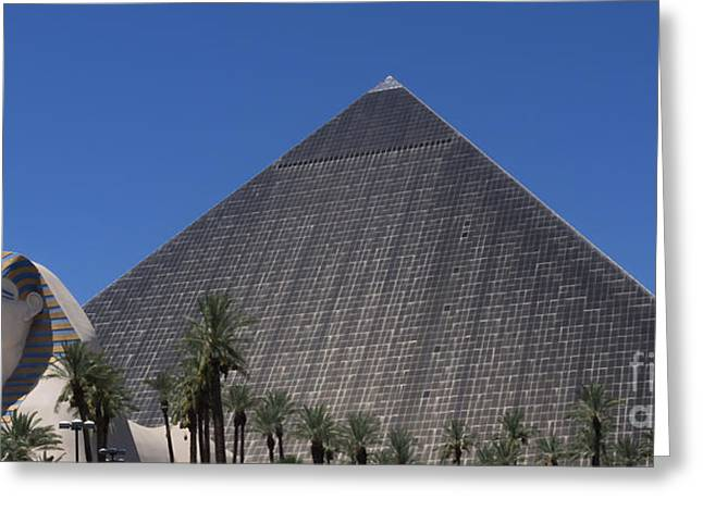 Playing Cards Greeting Cards - Las Vegas Luxor Egypt Greeting Card by Super Jolly