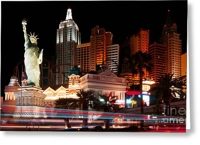 Playing Cards Greeting Cards - Las Vegas New York New York Greeting Card by Super Jolly