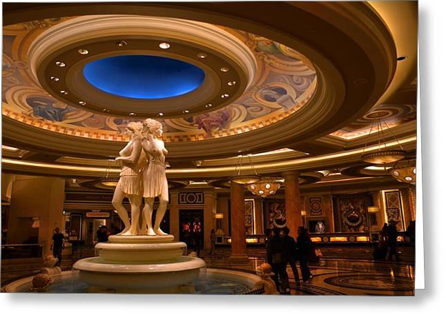 Caesars Palace Greeting Cards - Las Vegas Greeting Card by Patrick  Flynn