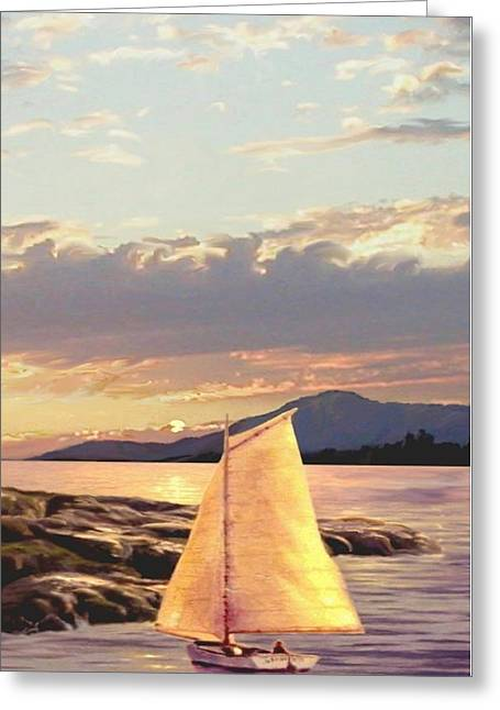 Last Light Segment 3 Greeting Card by Ron Chambers