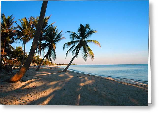 Key West Greeting Cards - Last Sunbeams Greeting Card by Susanne Van Hulst