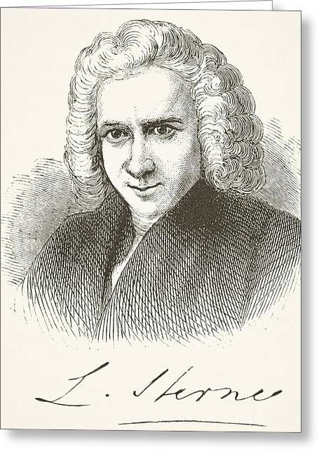 Laurence Sterne 1713 - 1768. English Greeting Card by Vintage Design Pics