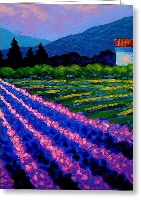 Landscape Posters Greeting Cards - Lavender Field France Greeting Card by John  Nolan