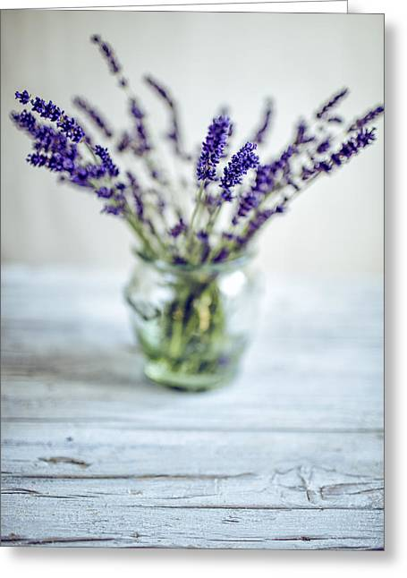 Lavender Still Life Greeting Card by Nailia Schwarz