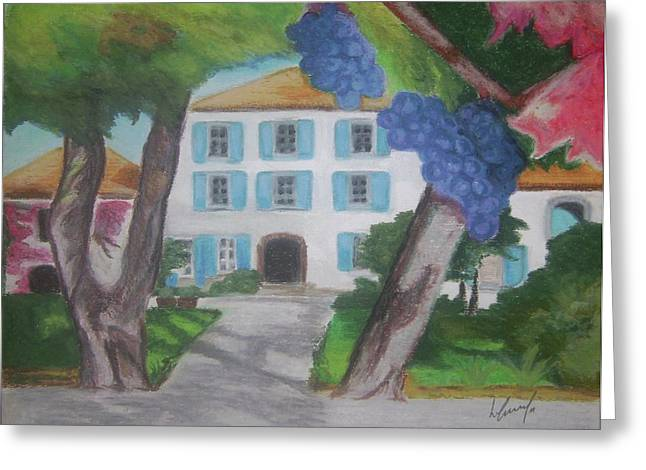 Chateau Pastels Greeting Cards - Le Chateau Greeting Card by Louise Griffiths
