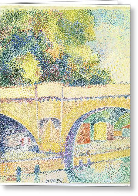 Le Pont Neuf Greeting Card by Hippolyte Petitjean