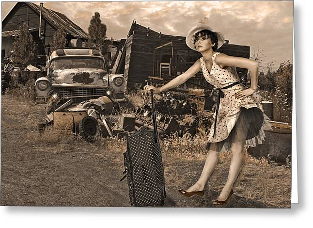 Leaving Home For Good..... Greeting Card by Jeff Burgess