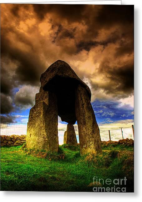 Dolmen Greeting Cards - Legananny Dolmen  Greeting Card by Kim Shatwell-Irishphotographer