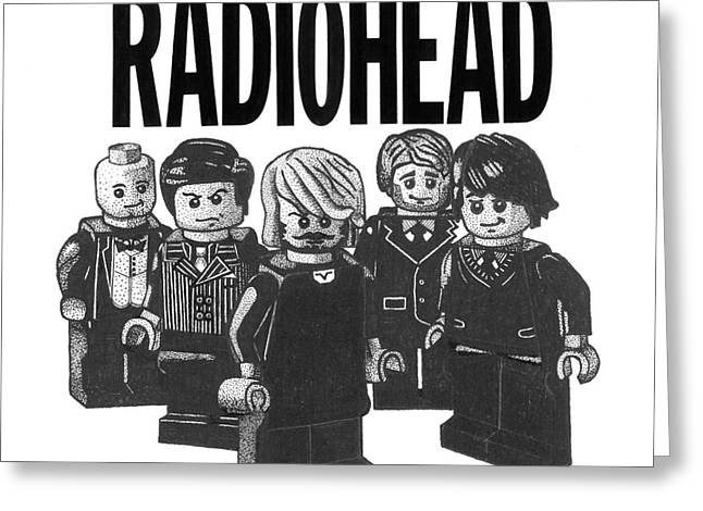 Lego Radiohead Greeting Card by Mark Richardson