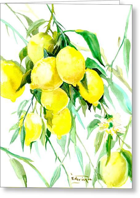 Lemon Tree Greeting Card by Suren Nersisyan