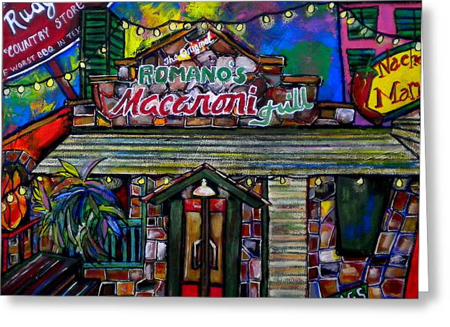 Italian Restaurant Greeting Cards - Leon Springs Greeting Card by Patti Schermerhorn