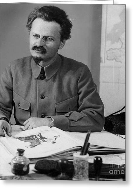 Statesman Greeting Cards - Leon Trotsky (1879-1940) Greeting Card by Granger