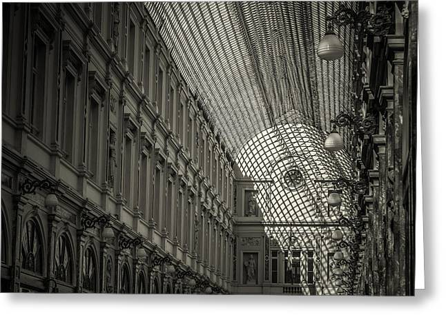 Les Galeries Royales Saint-hubert Greeting Card by Chris Fletcher
