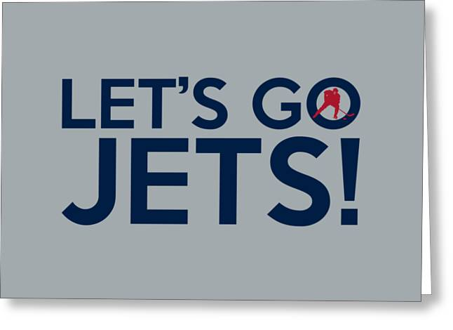 Let's Go Jets Greeting Card by Florian Rodarte