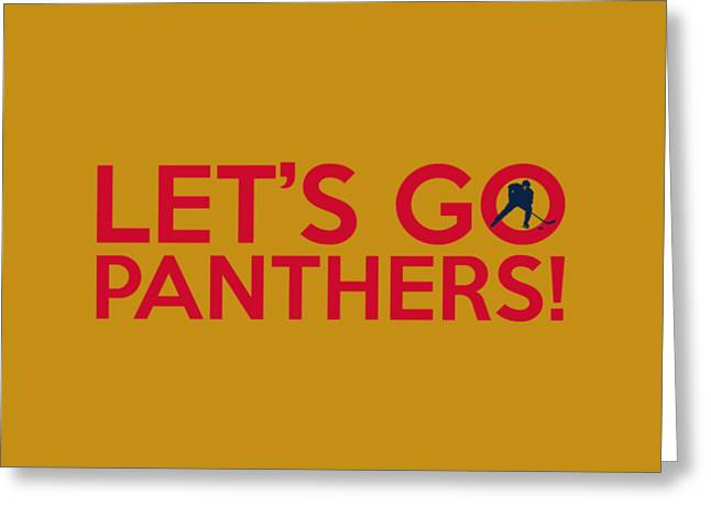 Let's Go Panthers Greeting Card by Florian Rodarte