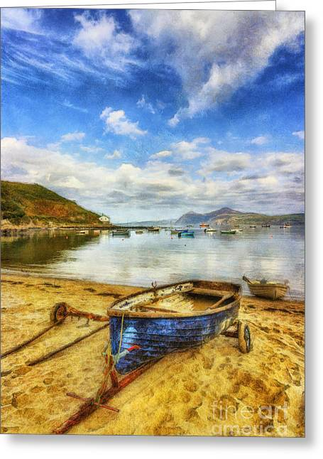 Seaside Digital Art Greeting Cards - Lets Sail Away Greeting Card by Ian Mitchell