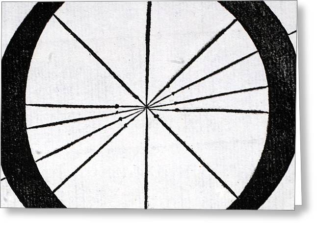 Circles Tapestries - Textiles Greeting Cards - Letter O Greeting Card by Leonardo Da Vinci