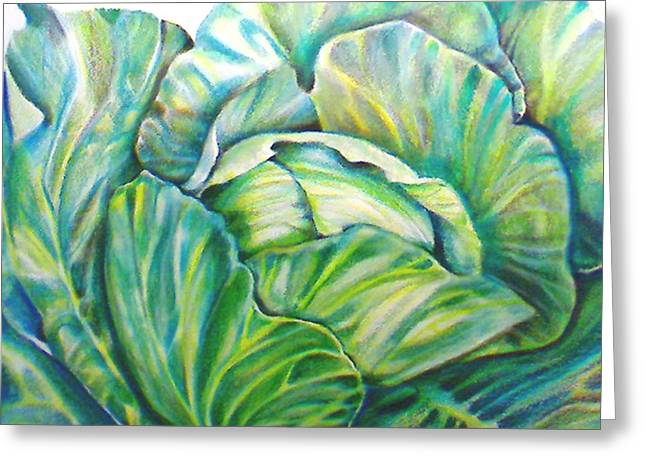 Lettuce Greeting Card by Cami Rodriguez