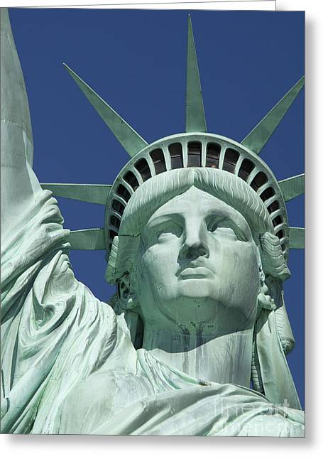 4th July Greeting Cards - Liberty Greeting Card by Brian Jannsen