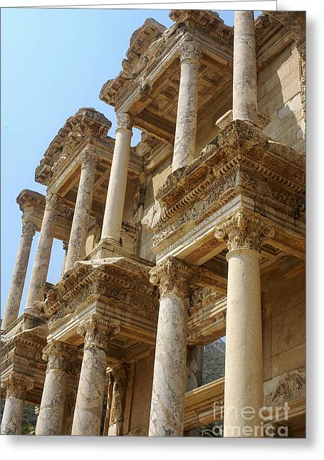 Library Of Celsus Greeting Cards - Library of Celsus Greeting Card by Bob Phillips