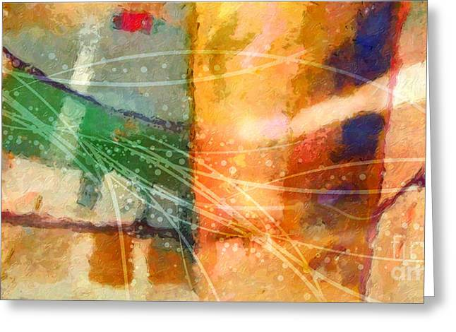 Abstract Field Greeting Cards - Lifelines Greeting Card by Lutz Baar