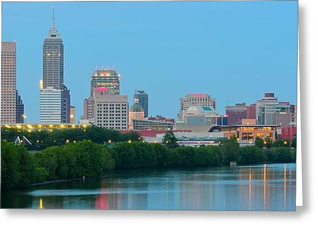 White River Greeting Cards - Light Blue Indianapolis Greeting Card by Frozen in Time Fine Art Photography