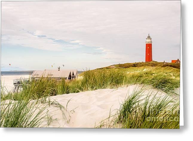 lighthouse Eierland Greeting Card by Hannes Cmarits