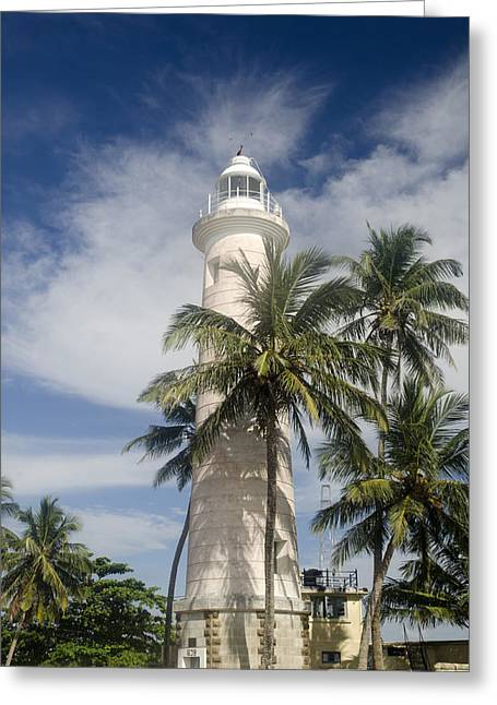 Dutch Lighthouse Greeting Cards - Lighthouse in Galle Sri Lanka Greeting Card by Martin Turzak