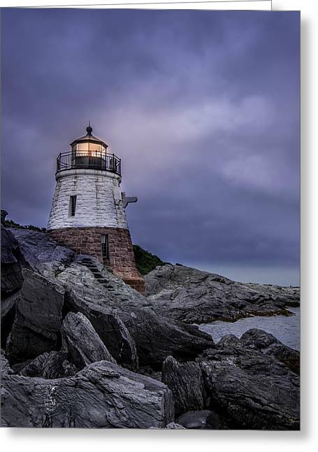 Ocean Photography Greeting Cards - Lighthouse Greeting Card by Jerri Moon Cantone
