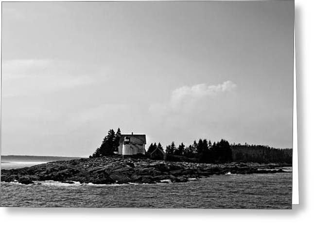 Maine Shore Greeting Cards - Lighthouse near Bar Harbor Maine Greeting Card by Virtualvisa
