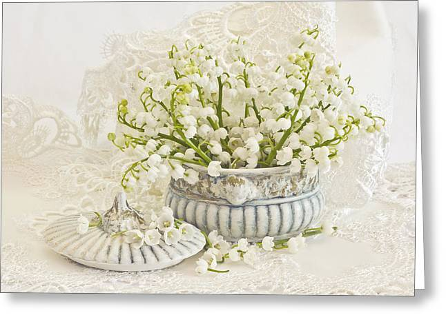 Powder Greeting Cards - Lily Of The Valley  Greeting Card by Sandra Foster