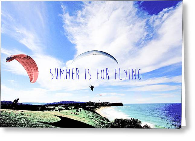 Print Photographs Greeting Cards - Lily Winds Paragliding Summer Greeting Card by Lily Winds