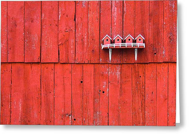 Little Bird Houses Greeting Card by Todd Klassy