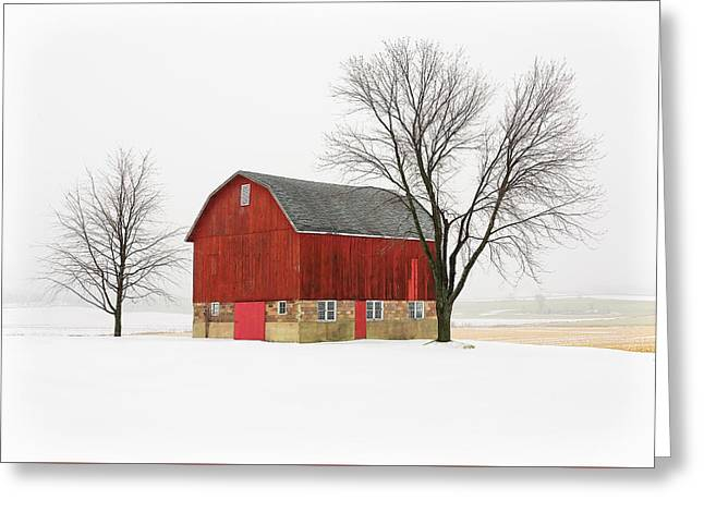 Little Red Barn Greeting Card by Todd Klassy