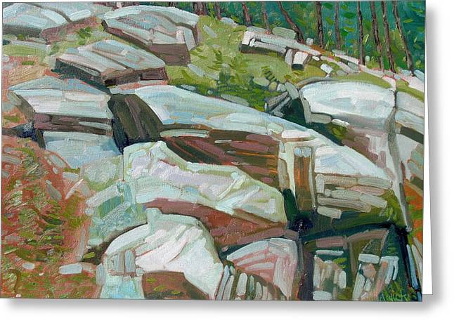 Canoe Greeting Cards - The Rideau Rocks Greeting Card by Phil Chadwick