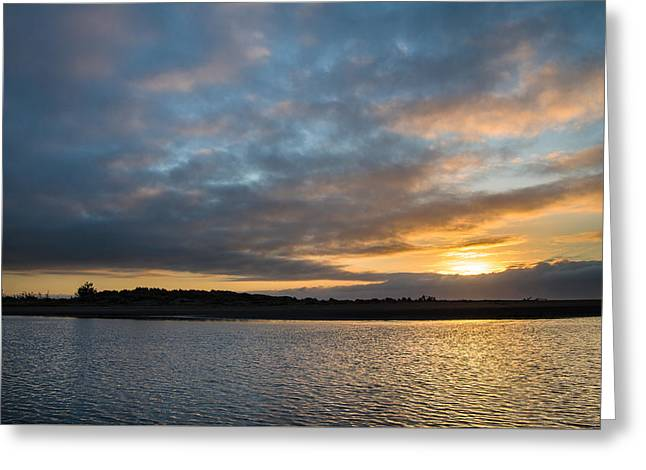 Moonstone Beach Greeting Cards - Little River Sunset Greeting Card by Greg Nyquist