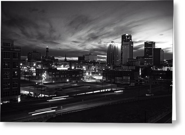 Little Rock Arkansas Greeting Cards - Little Rock at Dusk Greeting Card by Bruce Stracener