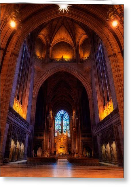 Architectural Styles Greeting Cards - Liverpool Cathedral, Church Of England Greeting Card by Panoramic Images