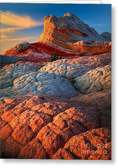 Hoodoos Greeting Cards - Lollipop Sunset Greeting Card by Inge Johnsson